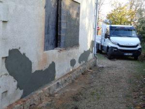 recontruction mur echoppe