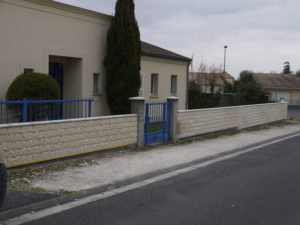Plaquage pierre sur muret