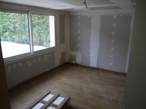 placo chambre avant peinture