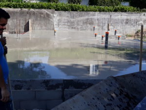 dalle beton maison