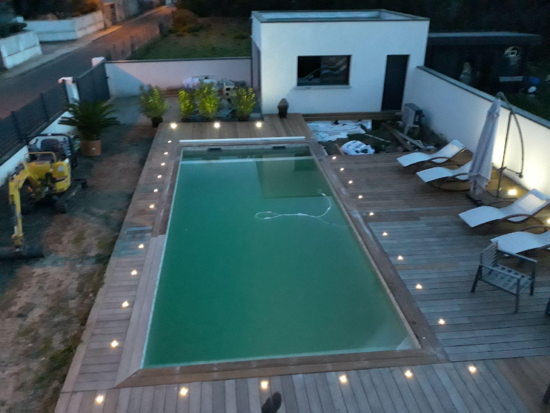 réalisation piscine vue de haut