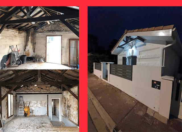 Réalisation par notre entreprise de rénovation sur Bordeaux : AquiBatiRenov